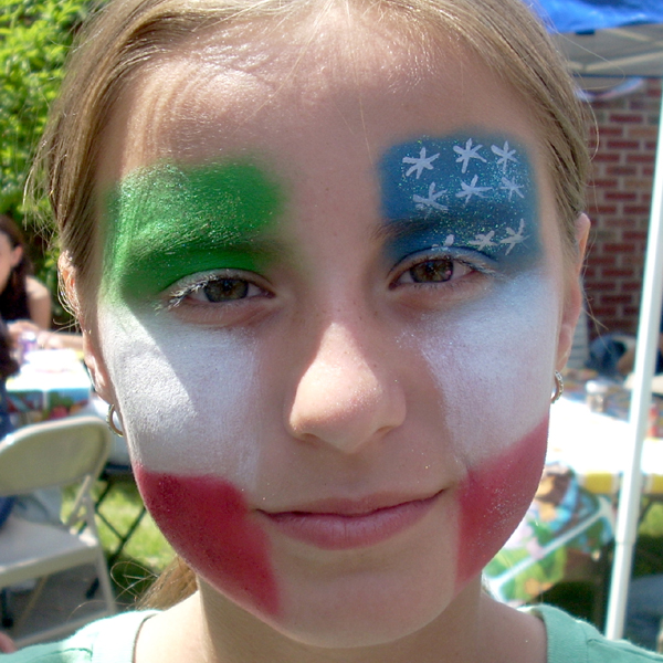Mexico flag face painting