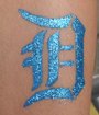 Detroit Tigers Glitter Tattoo