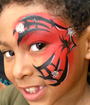 Spidey Eye Face Painting