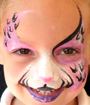 Split Cheetah Face Painting