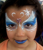 Blue Princess Face Painting