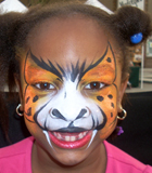 Angry Cheetah Face Painting