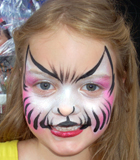 Pink Kitty Face Painting
