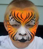 Orange Tiger Face Painting
