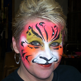 Pink Tiger Face Painting